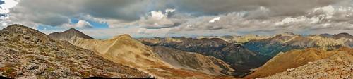 Pt 13,452, Huron Peak, Browns Peak and Lulu Gulch