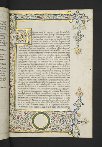 Illuminated and decorated page in Lactantius, Lucius Coelius Firmianus: Opera