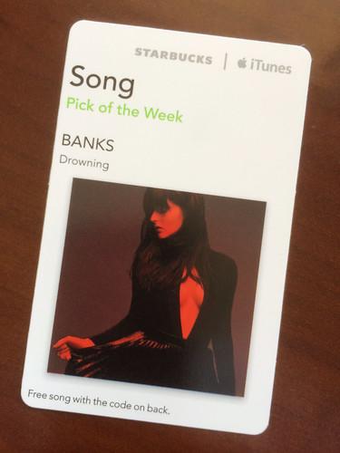 Starbucks iTunes Pick of the Week - BANKS - Drowning
