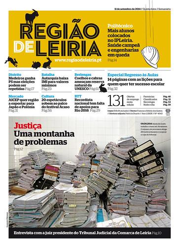 Capa Regiao de Leiria edição 4043 de 11 de setembro 2014
