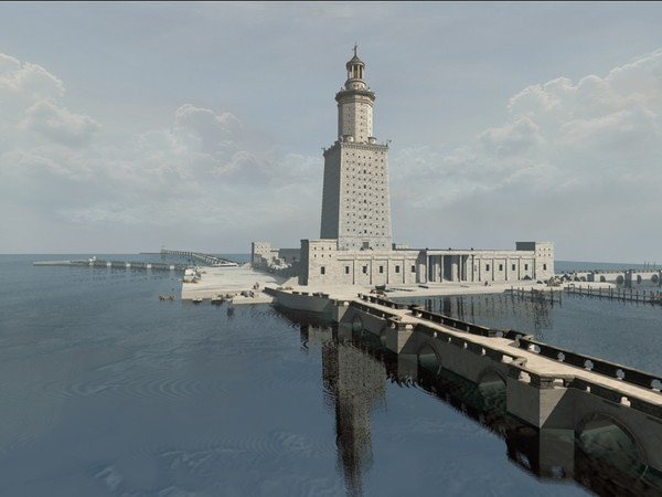 Drawing of Lighthouse of Alexandria
