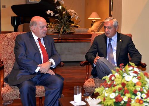 Presidente de Guatemala recibió al Secretario General de la OEA