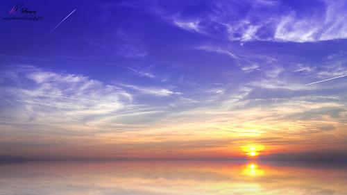 blue sunset sea sky orange sun nature sunshine clouds photoshop ball landscape photography photo time sony hobby tamron hdr gdr slt 58 18mm refletion evenning elitephotography