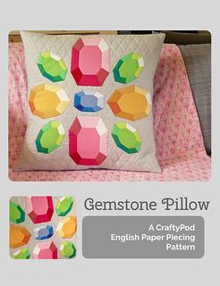 The Gemstone Pillow: English Paper Piecing PDF Pattern