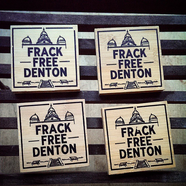 anti-fracking coaster