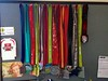 Collection of race medals