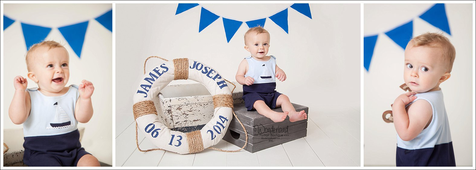 Nautical First Birthday Ideas Philadelphia Cake Smash Photographer WonderlandPortrait.com