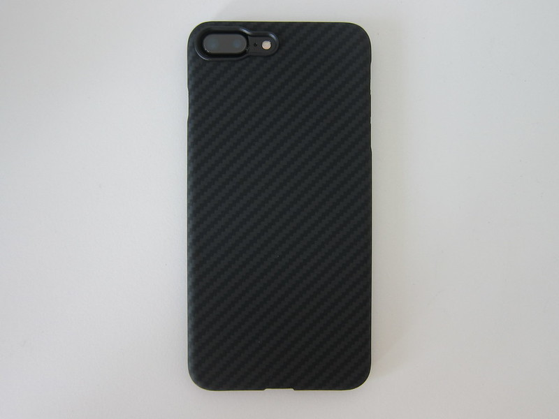 Pitaka's Aramid iPhone 7 Plus Case - With iPhone 7 Plus - Back