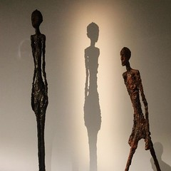 Light and shade - figures at the Picasso/Giacometti exhibition at the old fire station gallery. #art #dohainstagram #doha #seemydoha