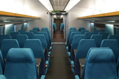 Passenger saloon of the Shanghai Maglev Train