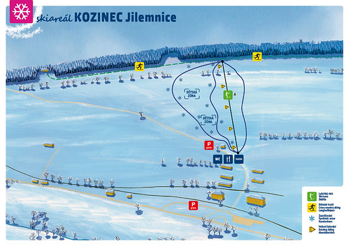 Kozinec - mapa sjezdovek