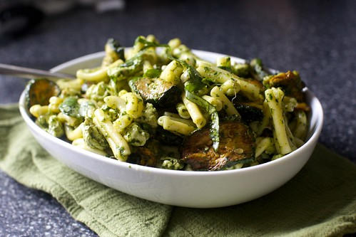 ottolenghi's pasta and fried zucchini salad
