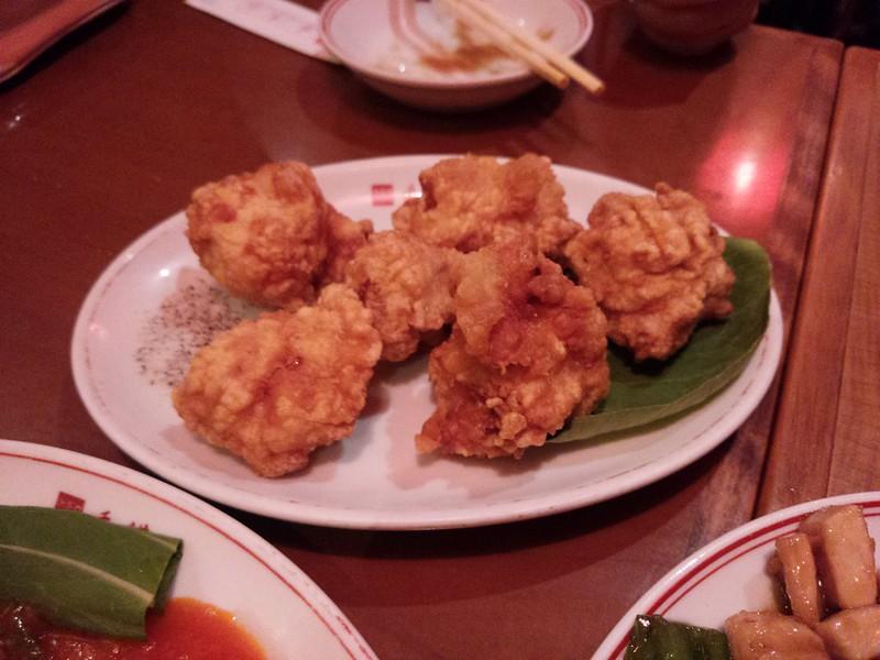香港亭 鶏肉の唐揚げ