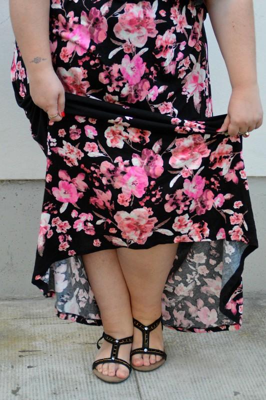 outfit rosa e floreale 10