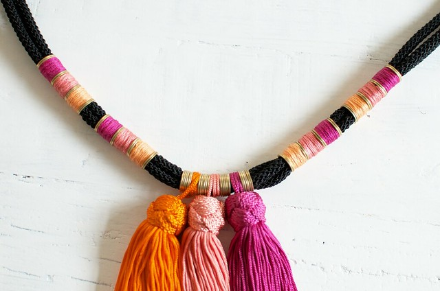Tassel necklace DIY and craft kit www.apairandasparediy.com
