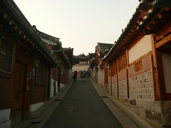 The Street of Hanok Houses