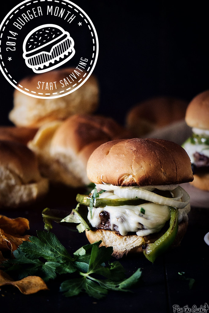 Philly Cheesesteak Burger Recipe with Roasted Garlic Aioli
