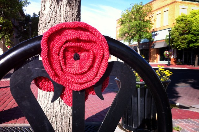 Floral Yarn Bomb