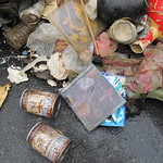 海洋廢棄物:CD光碟、伯朗咖啡罐、其他日用品垃圾