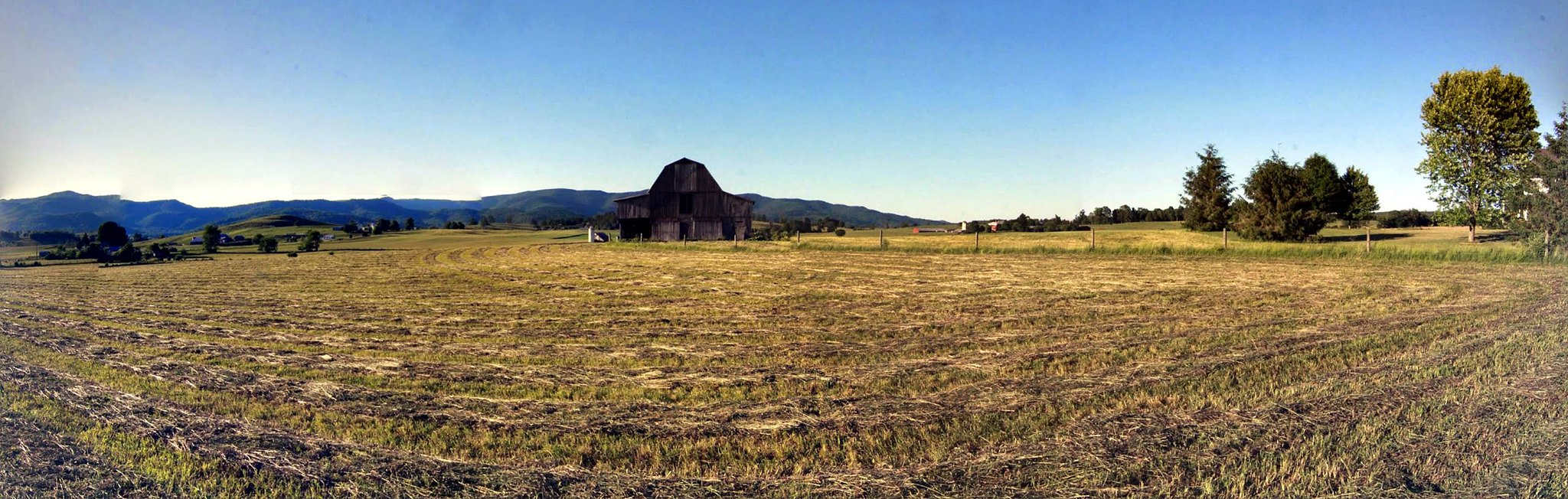 Barn Panorama near Hillsboro