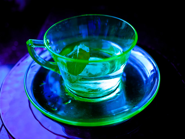 Green tea cup with mint