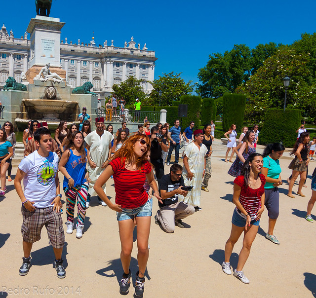 Flashmob en la Plaza de Oriente, Madrid