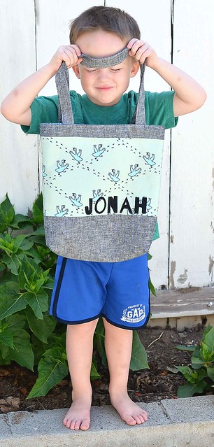 Jonah's library tote