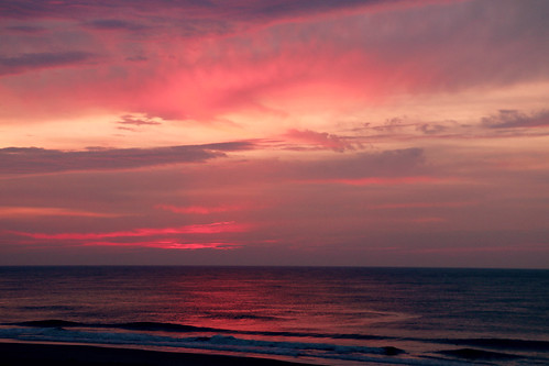 beach clouds sunrise colorful maryland oceancity oc