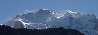 Drifting snow on Jungfrau, BE, Switzerland