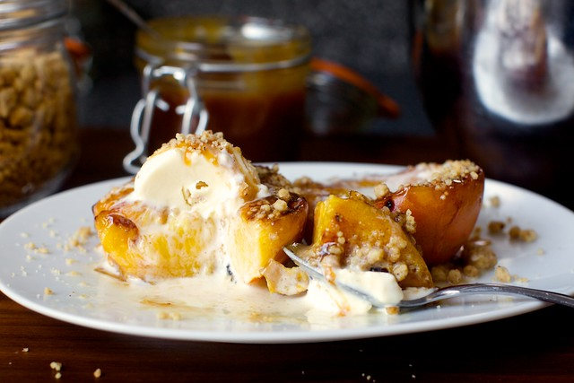 grilled peach split