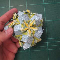 วิธีพับบอลกระดาษแบบเอสเตลล่าฟลอร์ (Estrella Flor Kusudama)019
