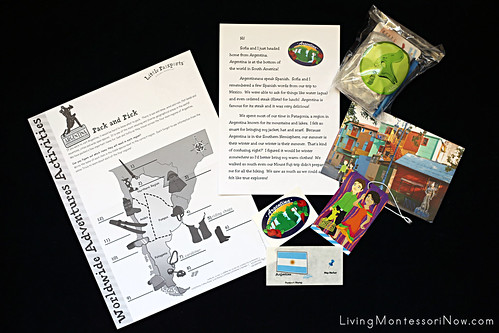 Contents of the Little Passports Argentina Package