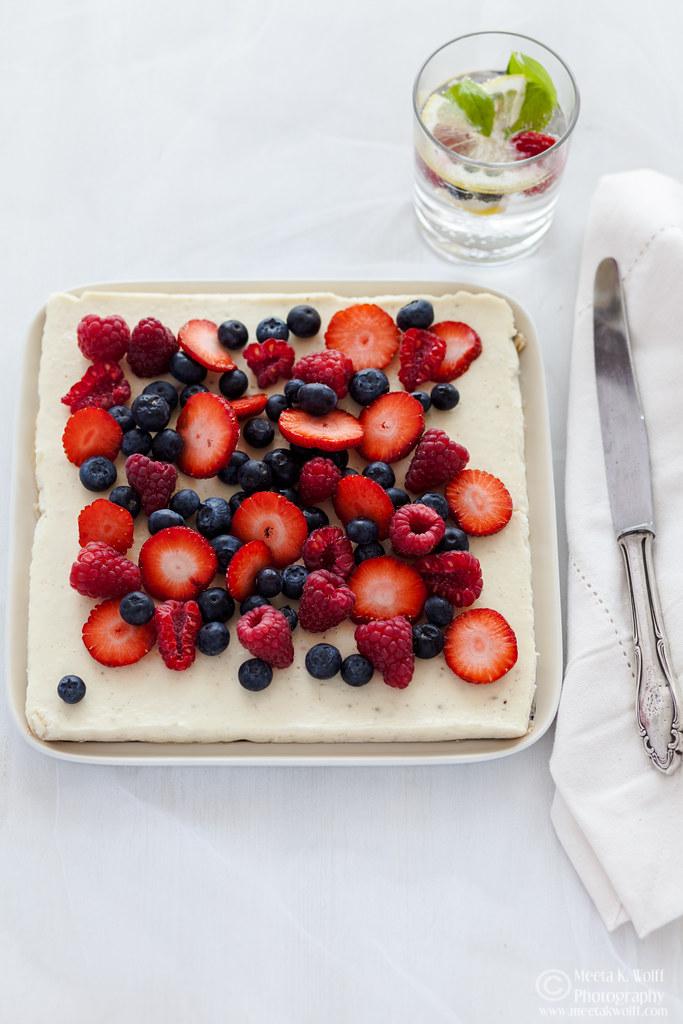 Ricotta Lemon Slice with Berries (0040)