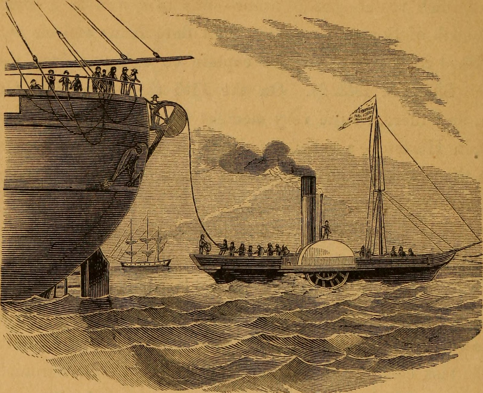 "Image from page 589 of ""Man upon the sea : or, a history of maritime adventure, exploration, and discovery, from the earliest ages to the present time ..."" (1858)"