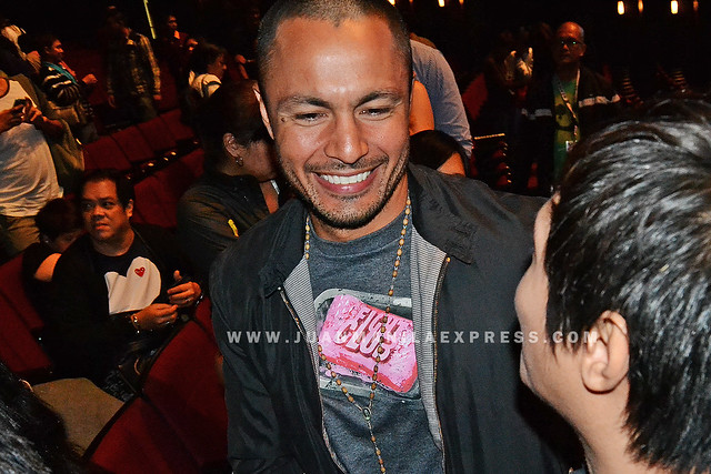 ACTOR DEREK RAMSAY. Derek plays a rogue cop on this film The Janitor.