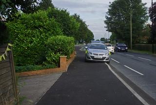 2014.07-07.1905 A59, Boroughbridge Rd., York_mse2. Illegal, anti-social police parking!