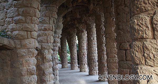 Closer look at the columns