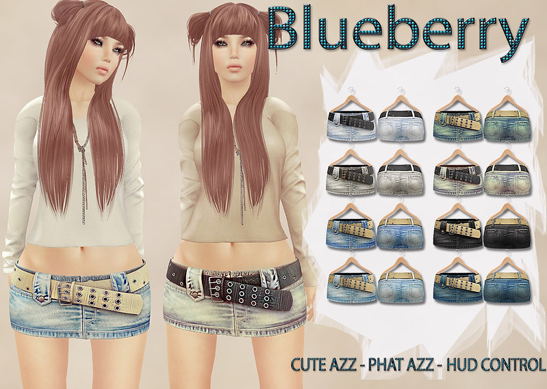 Blueberry Vio Mesh Belted Skirts