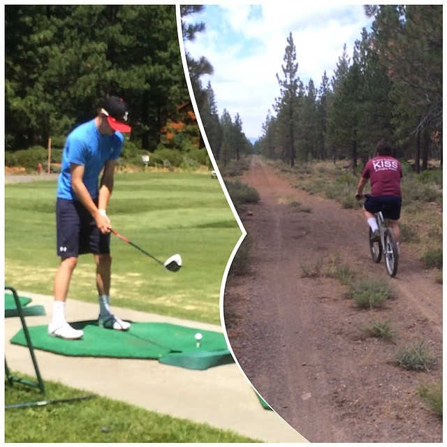 Mountain Biking on the Bizz Johnson Trail in the morning and the driving range at Bailey Creek in the afternoon - 2014 Lake Almanor Day 5 - #lake_almanor_2014
