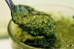 walnut pesto spoonful