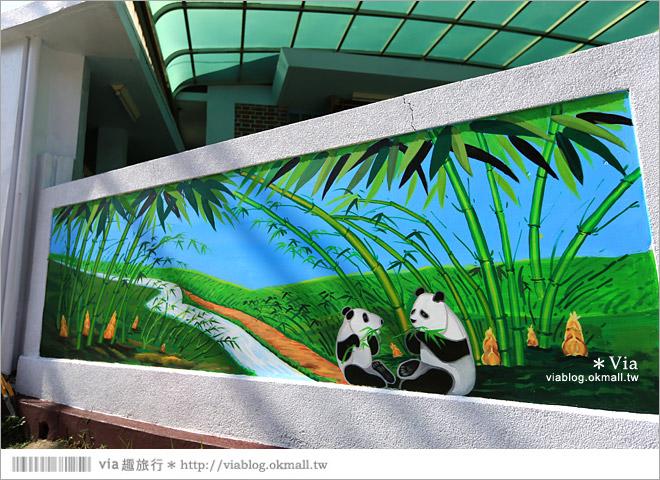 【雲林熊貓村】斗南鎮石龜熊貓村~最新!超萌又生動的立體3D畫彩繪村再一彈!37