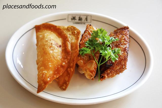 lammeeya fried fu chook and dumpling