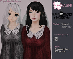 [^.^Ayashi^.^] Kimiko hair special for The Black Dot Project