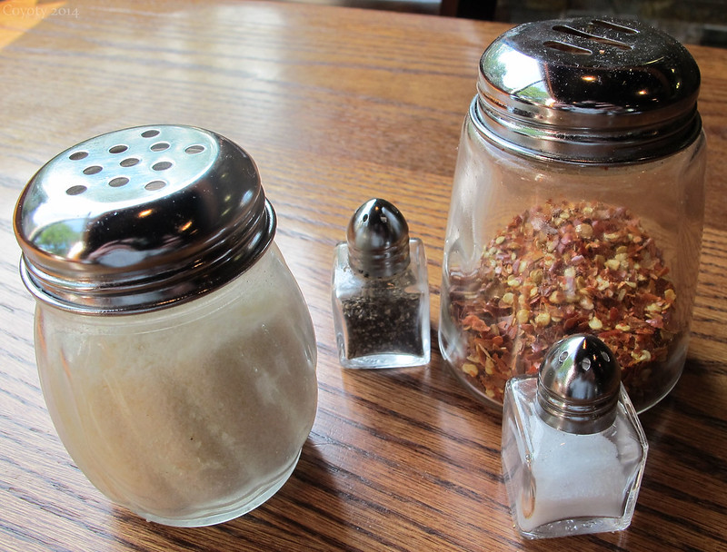 Tiny salt and pepper shakers