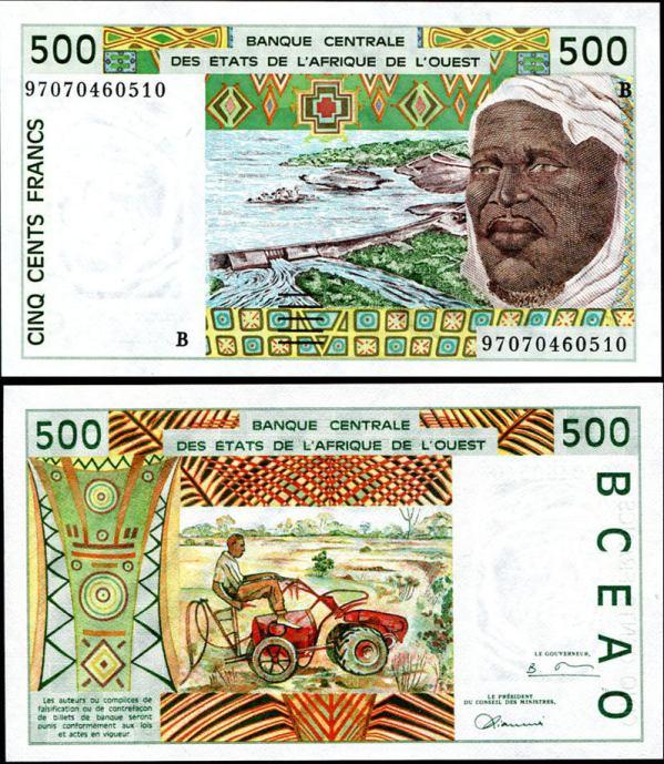 *500 Frankov Benin 1991-2002, Pick 210B
