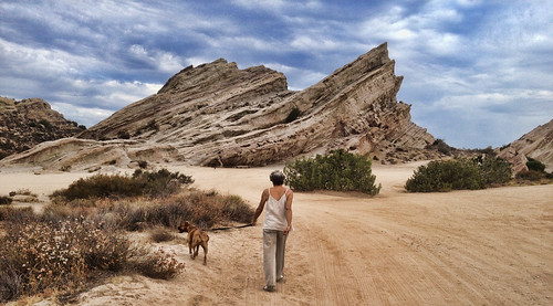 morning panorama dog walk sunday bella aguadulce vasquezrocks