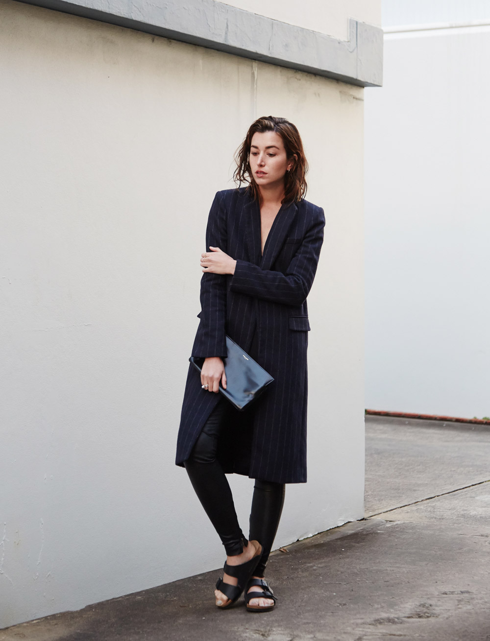 Winter style pinstripe coat Chronicles of Her 06