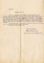 VI/7.d. Kaszaperi nyugalmazott keresztény tisztviselő, egyedül visszamaradt zsidó leányt, Sinkó Margitot szeretné alkalmazni