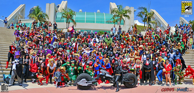 DC cosplay gathering at San Diego Comic-Con 2014