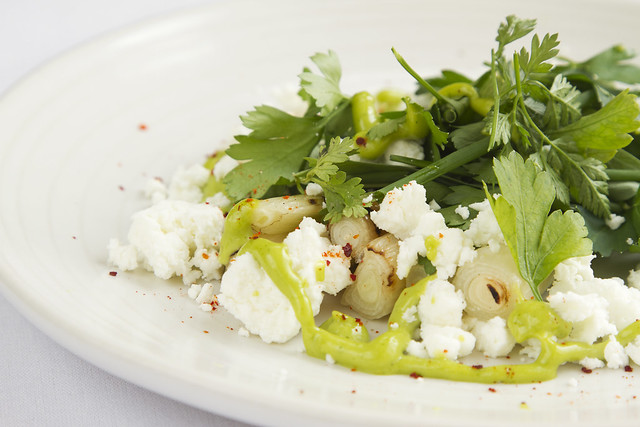 Goat's Cheese Spring Onion Salad © ROH Restaurants 2014